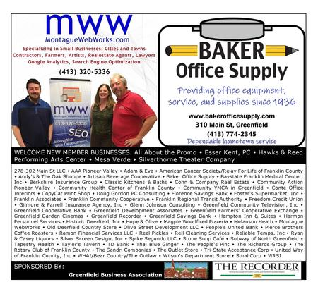 New Monthly GBA Advertisement - Greenfield Business